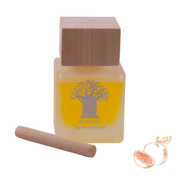 Wooden Top Diffuser Sugared Grapefruit