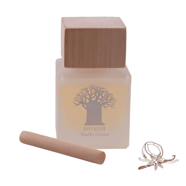 Wooden Top Diffuser Vanilla Coconut