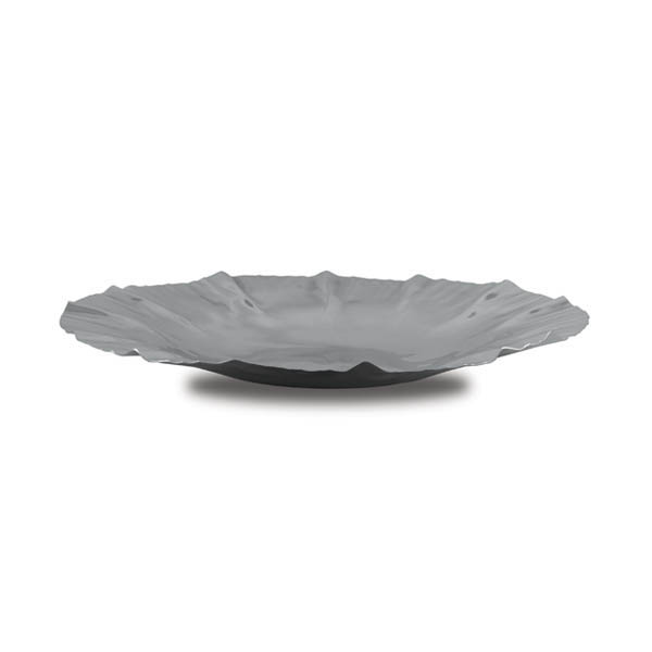 medium stainless steel wave salad platter