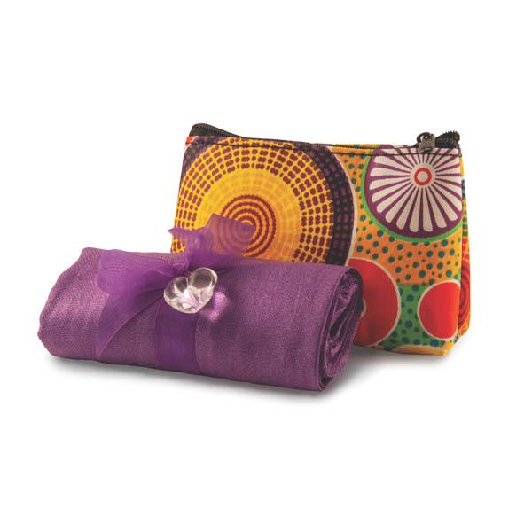 Plain pashmina in recycled bag