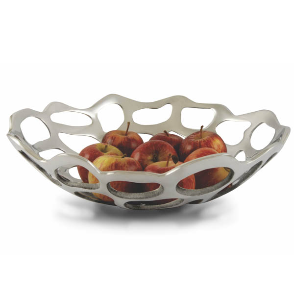 round holes fruit bowl