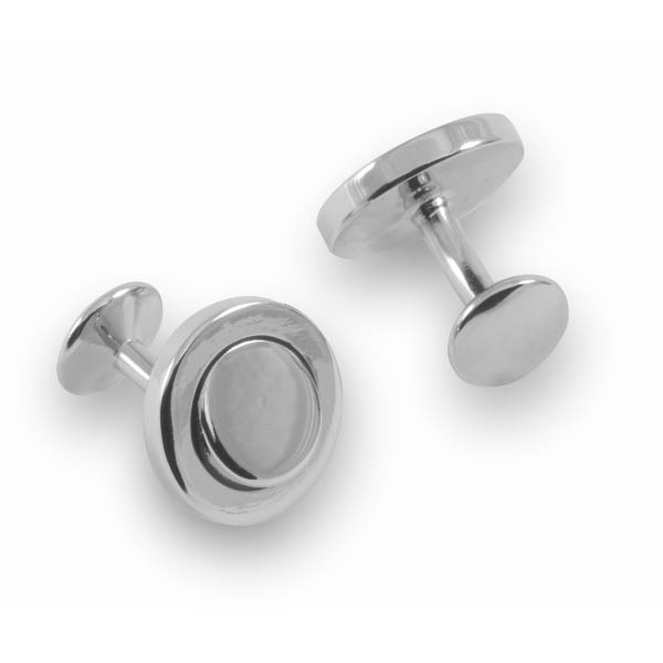 round raised cufflinks