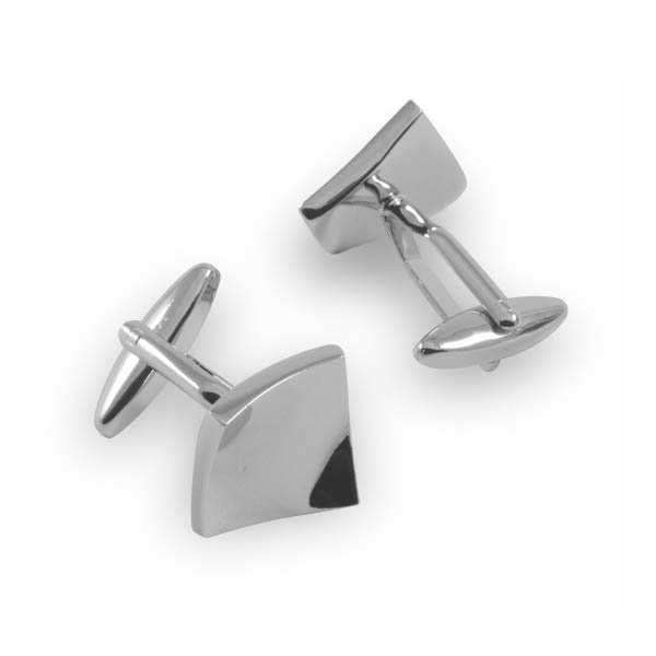 square raised cufflinks