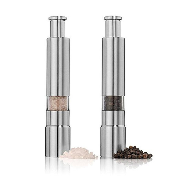 stainless steel salt pepper grinder